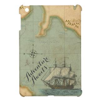 Étui iPad Mini L'aventure attend la carte antique