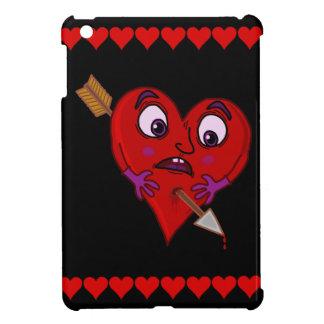 Étui iPad Mini Le coeur drôle de Valentine avec la flèche