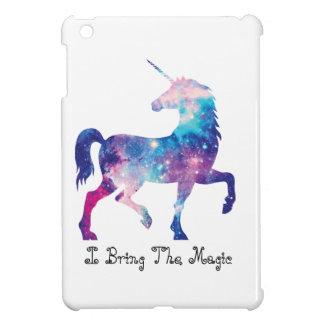 Étui iPad Mini Licorne magique scintillante