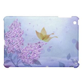 Étui iPad Mini Lilas et papillons