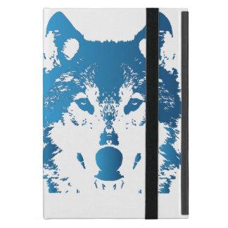 Étui iPad Mini Loup de bleu glacier d'illustration