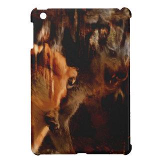 Étui iPad Mini Mâle alpha, défi de loup, loups de lutte