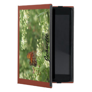 Étui iPad Mini mini cas folio d'iPad, dos orange de Brown de