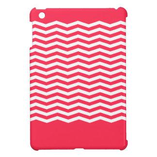 Étui iPad Mini Monogramme de corail gai adorable de chevron