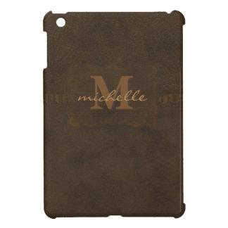 Étui iPad Mini Monogramme de cuir de relief de Paisley