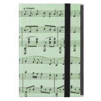 Étui iPad Mini Musique de feuille verte