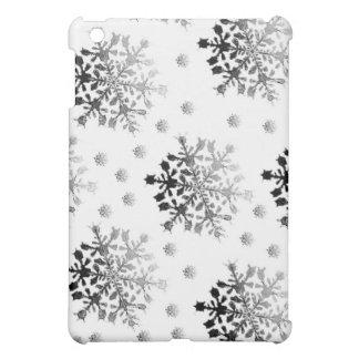 Étui iPad Mini Noir sur la conception blanche de flocon de neige