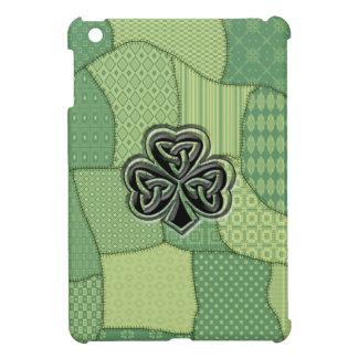 Étui iPad Mini Patchwork irlandais chanceux adorable de shamrock