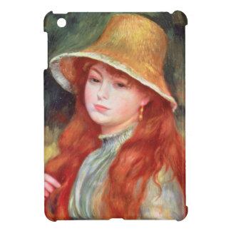 Étui iPad Mini Pierre une jeune fille de Renoir | dans un chapeau