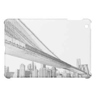Étui iPad Mini Pont de Brooklyn et horizon de Manhattan la nuit,