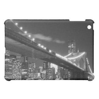 Étui iPad Mini Pont de Brooklyn et horizon de Manhattan la nuit
