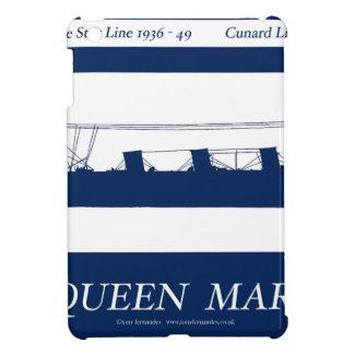 Étui iPad Mini rayure bleue 3 de reine Mary