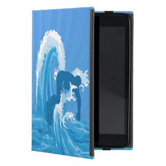 Étui iPad Mini Rétro art de surfer de regard