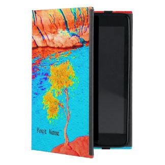 Étui iPad Mini scène colorée de paysage de mini cas folio d'iPad