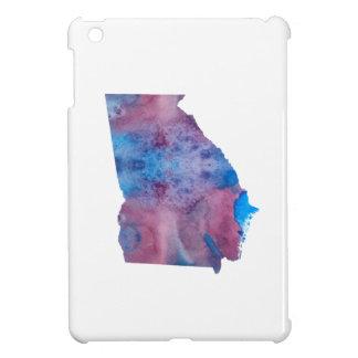 Étui iPad Mini Silhouette colorée de la Géorgie