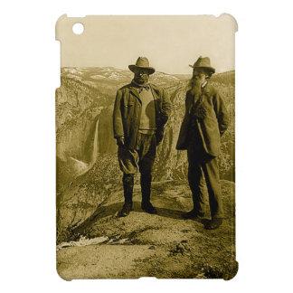 Étui iPad Mini Teddy Roosevelt et John Muir au point de glacier
