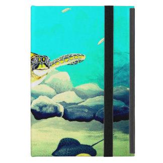 Étui iPad Mini Tortue de mer peignant la belle mer bleue