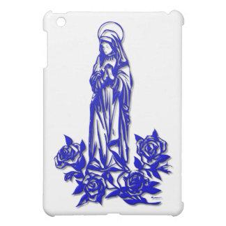 Étui iPad Mini Vierge Marie béni (avec les roses bleus)