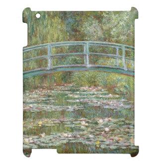 Étui iPad Pont d'art de Monet au-dessus d'un étang des