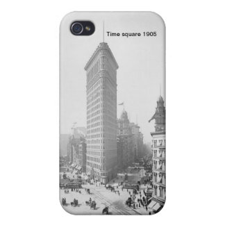 Étui iPhone 4/4S Caisse carrée de point de New York 1905 de temps