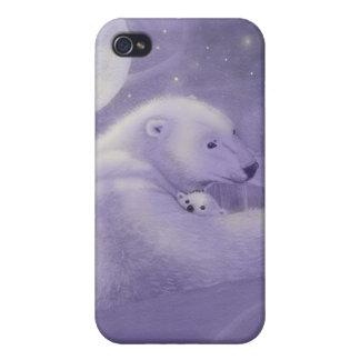 Étui iPhone 4/4S Cas tranquille de l'iPhone 4 d'ours blanc d'hiver