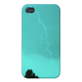 Étui iPhone 4/4S Foudre turquoise 3 4/4s