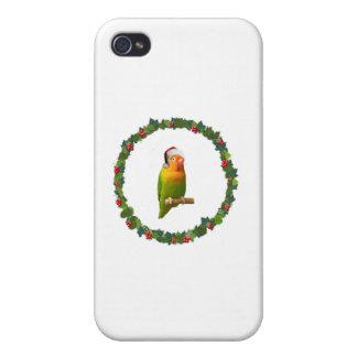 Étui iPhone 4/4S Guirlande de Noël d'inséparable
