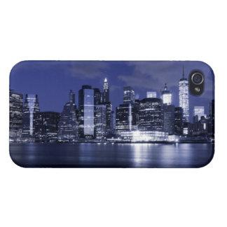 Étui iPhone 4/4S Horizon de New York baigné dans le bleu