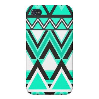 Étui iPhone 4/4S Motif tribal de turquoise
