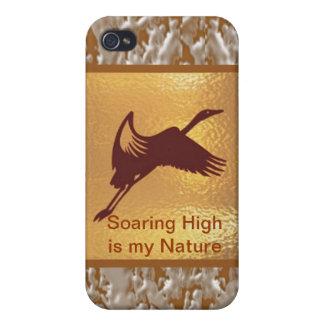 Étui iPhone 4/4S Oiseau d'or - la haute montante est ma nature