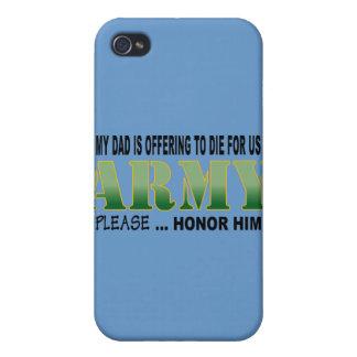 Étui iPhone 4/4S Papa d'honneur - armée