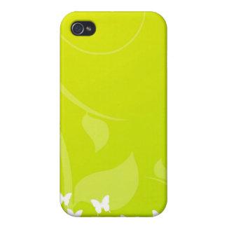 Étui iPhone 4/4S Papillons sur le vert et le jaune