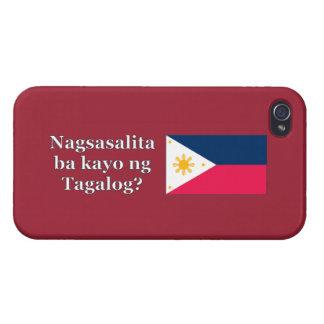 Étui iPhone 4/4S Parlez-vous Tagalog ? dans le Tagalog. Wf de