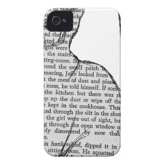 Étui iPhone 4 autocollant de livre de lecture de chat