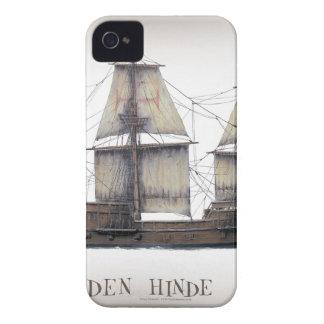Étui iPhone 4 Bateau d'or de 1578 Hinde