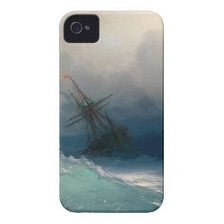 Étui iPhone 4 Bateau sur les mers orageuses, Ivan Aivazovsky -