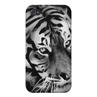 Étui iPhone 4 Beau blanc Afrique de noir de tigre