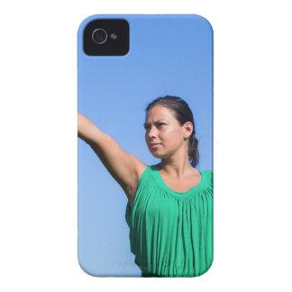 Étui iPhone 4 Boomerang de lancement de femme néerlandaise en