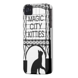 Étui iPhone 4 Cas magique de téléphone de minous de ville