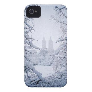 Étui iPhone 4 Central Park encadré en neige et glace