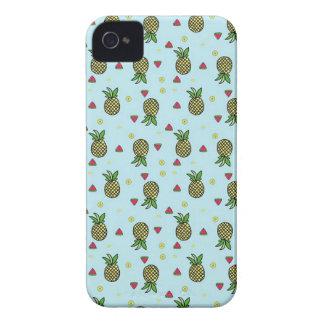 Étui iPhone 4 Chaux Citron de fruit de pastèque d'ananas
