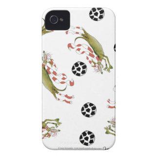 Étui iPhone 4 chiens du football de rouges