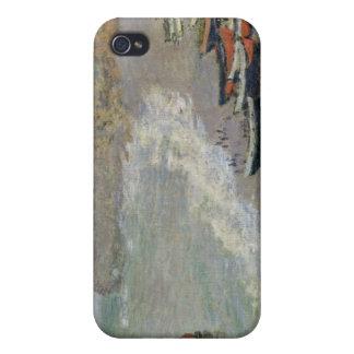 Étui iPhone 4 Claude Monet | Etretat, plage et d'Amont de Porte