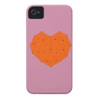 Étui iPhone 4 Coeur géométrique