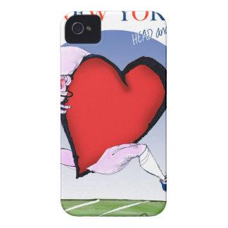 Étui iPhone 4 coeur principal de New York, fernandes élégants