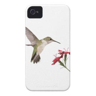 Étui iPhone 4 Colibri et fleur