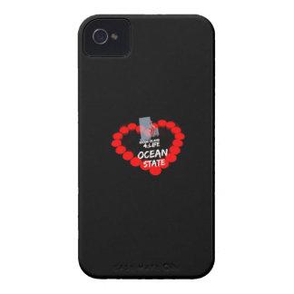 Étui iPhone 4 Conception de coeur de bougie pour l'état d'île de