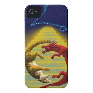 Étui iPhone 4 Constellation de tigre de dragon