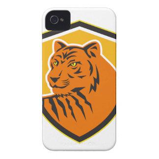 Étui iPhone 4 Crête avant principale de tigre rétro