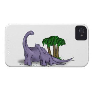 Étui iPhone 4 Dinosaure de mère et de bébé